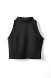 black mock neck crop top