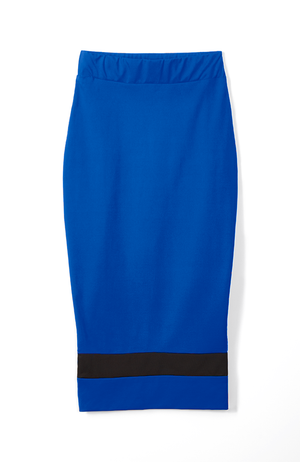 Standout Midi Pencil Skirt in Blue
