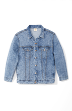 Load image into Gallery viewer, Boyfriend Denim Jacket with Sequin Paneling