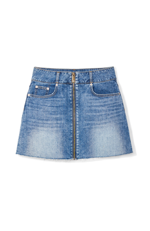 Highline Denim Skirt in Medium Wash