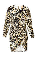 Load image into Gallery viewer, Je Ne Sais Quoi Dress in Leopard