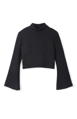 Jolie Textured Knit Crop Top