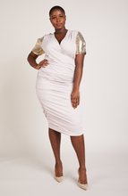 Load image into Gallery viewer, Serena GREAT Spellbound Ruched Midi Dress