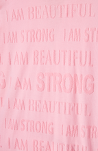 Load image into Gallery viewer, S-By-Serena-I-Am-Beautiful-I-Am-Strong-Sweater-Details