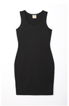 black racerback tank dress