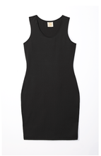 Load image into Gallery viewer, black racerback tank dress