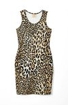 leopard print racerback mini dress