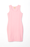 pink racerback mini dress