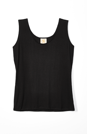 basic black tank top