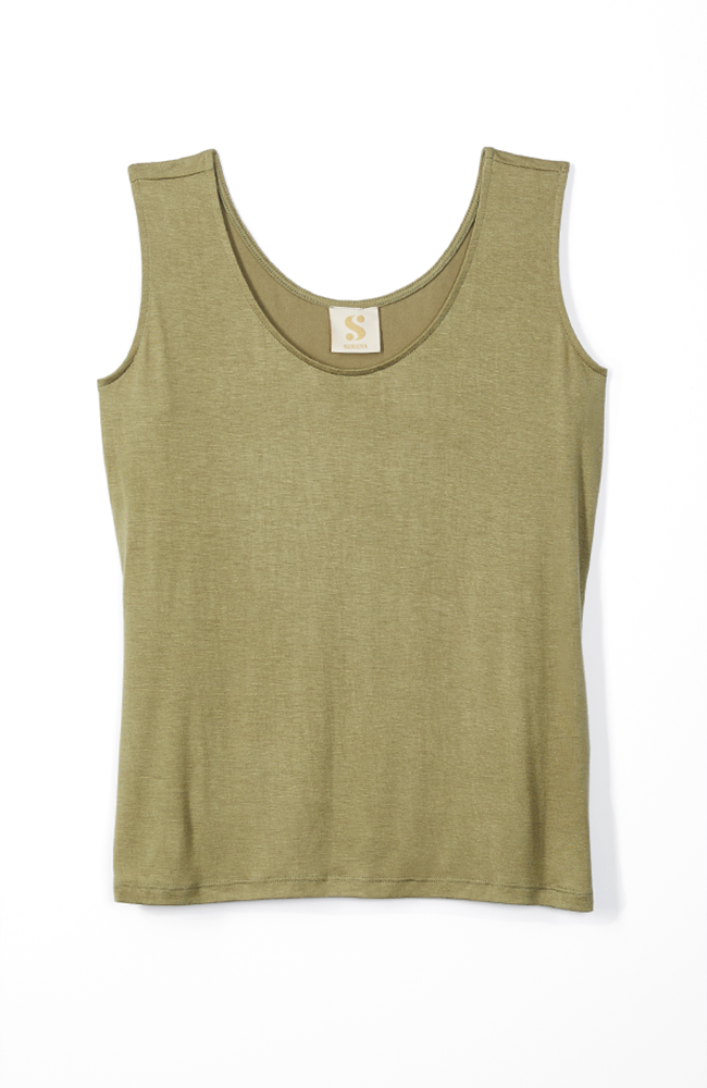 basic olive tank top