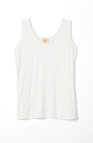 basic white tank top