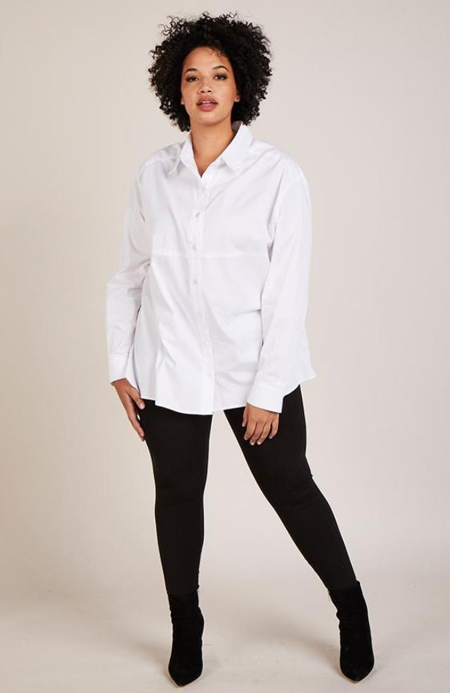 Serena GREAT White Button-Down Shirt