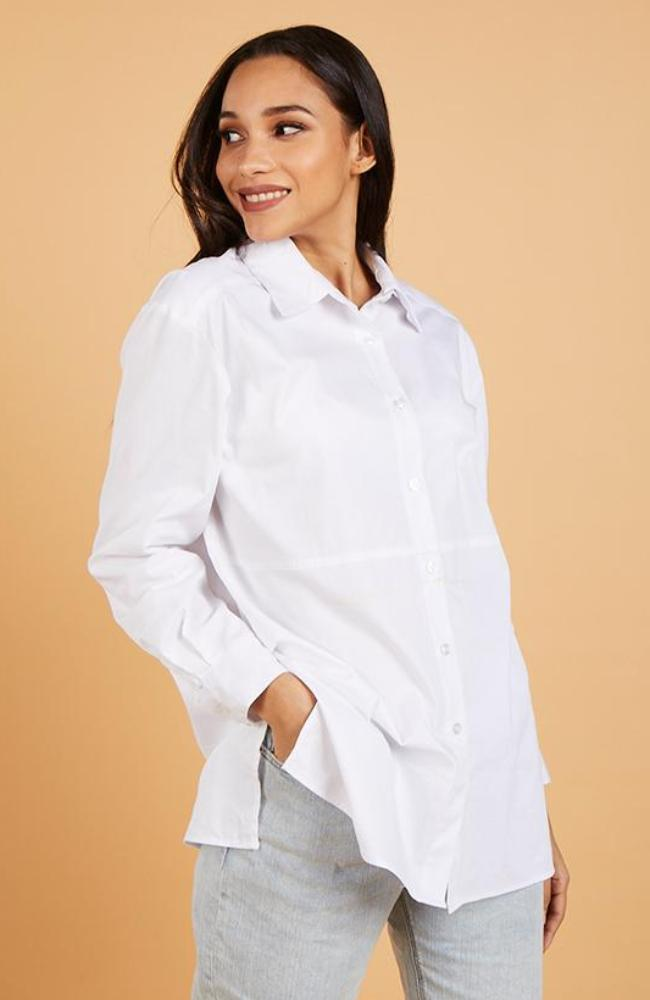 White Button-Down Shirt