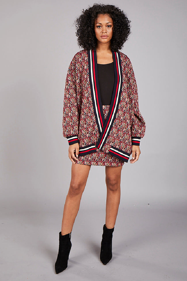 Diamonds Jacquard Cardigan