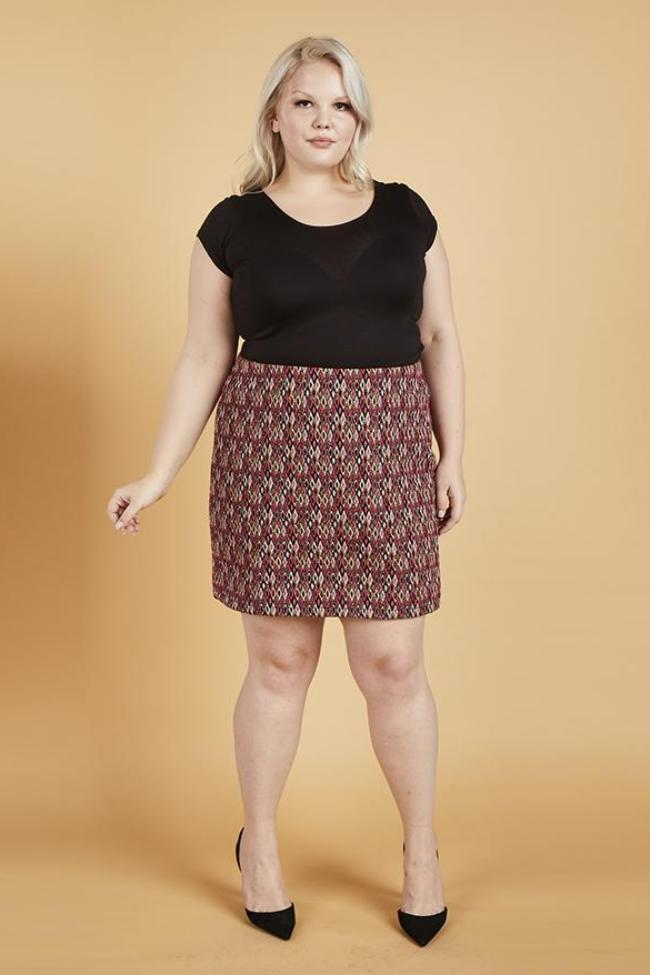 Serena GREAT Diamonds Jacquard Mini Skirt