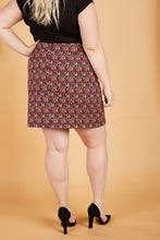 Load image into Gallery viewer, Serena GREAT Diamonds Jacquard Mini Skirt
