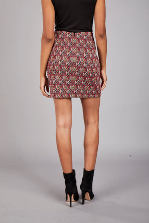 Diamonds Jacquard Mini Skirt