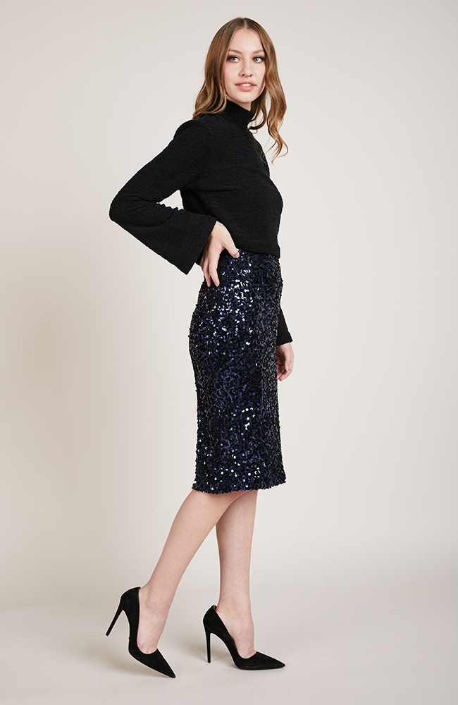 Shine Bright Midi Pencil Skirt