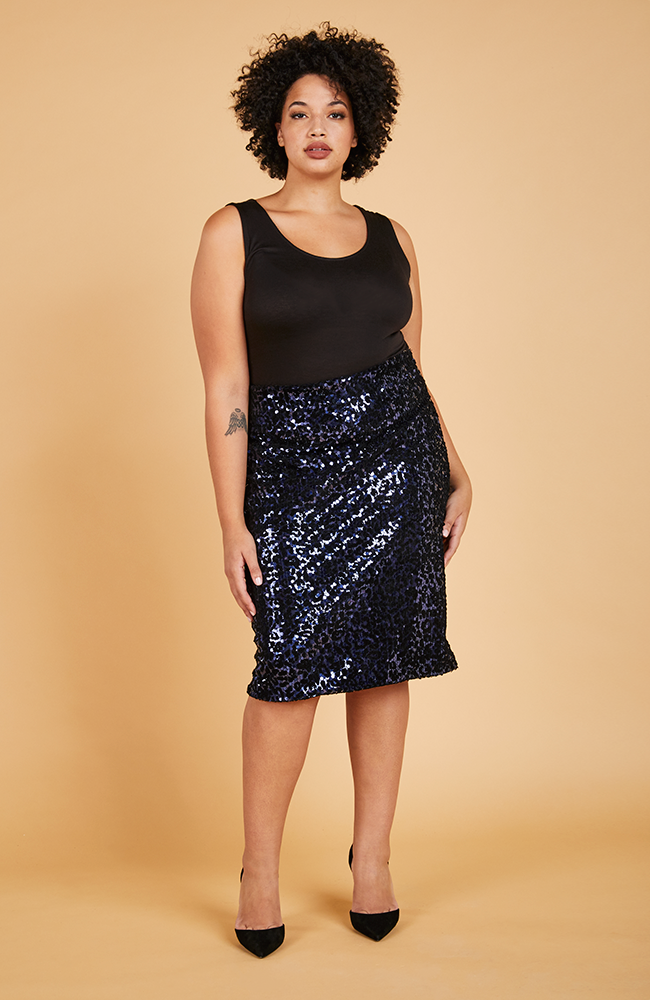 Serena GREAT Shine Bright Midi Pencil Skirt