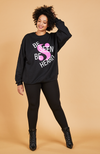 Serena GREAT Be Seen Be Heard Sweatshirt in Black