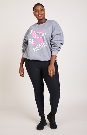 Serena GREAT Be Seen Be Heard Sweatshirt in Gray