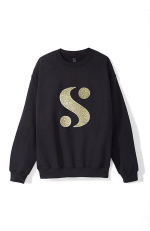 Signature S Sweatshirt in Black