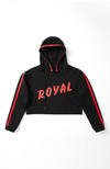 Royal Duchess Cropped Hoodie in Black