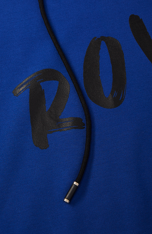 Royal Duchess Cropped Hoodie in Blue