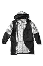 Load image into Gallery viewer, Knockout Metallic Jacket in Silver