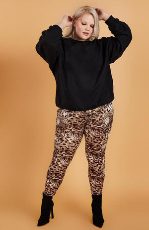 Tailored Legging in Leopard