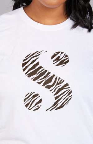 "Serena GREAT What Is Your ""S""? Zebra Tee"