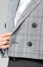 Load image into Gallery viewer, Alicia Plaid Cropped Jacket