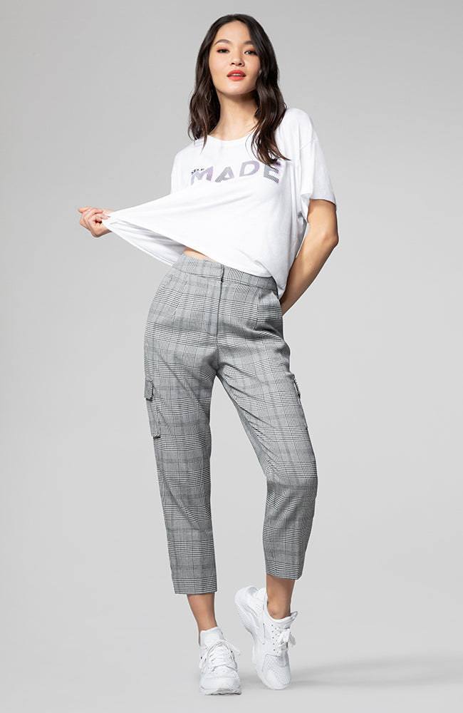 Alicia Plaid Utility Pant