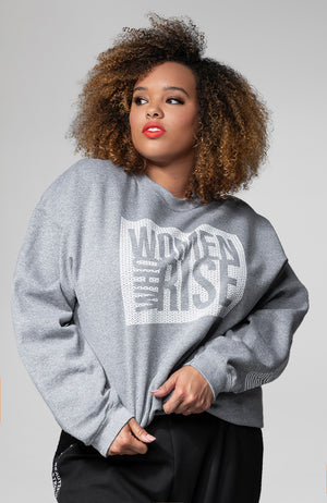 Women Who Rise Lounge Top in Gray