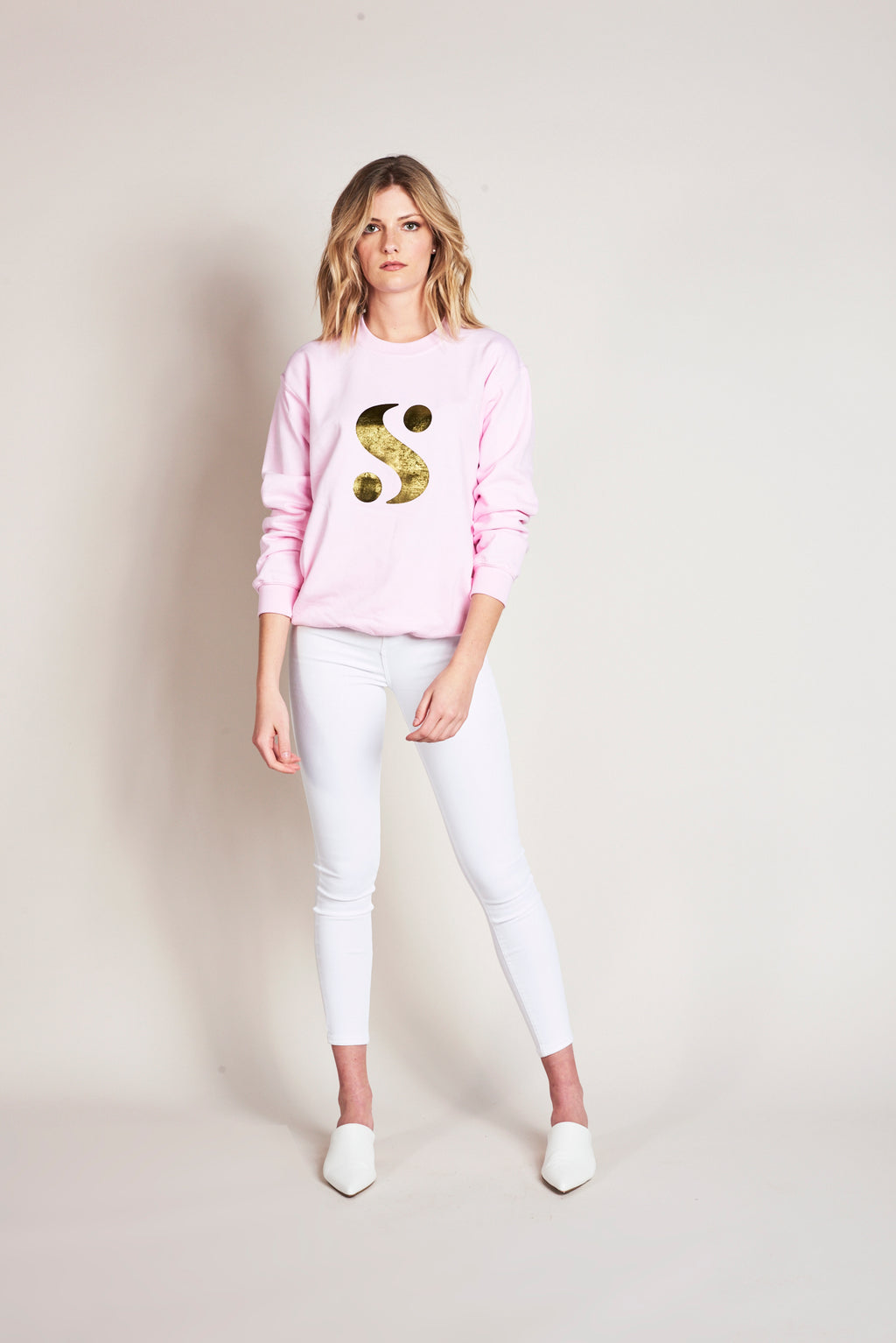 Signature S Sweatshirt in Pink