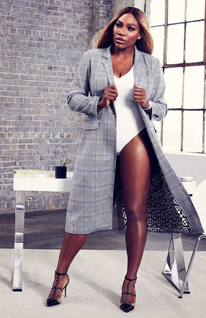 Ashley Plaid Belted Overcoat