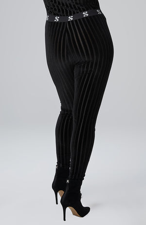 "Keira Signature ""S"" Legging in Burnout Velvet"