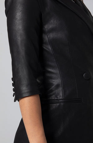 Sasha Vegan Leather Blazer