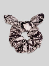 Load image into Gallery viewer, Veronika Python Pleated Mask + Scrunchie Set
