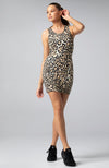 The One Mini Dress in Leopard