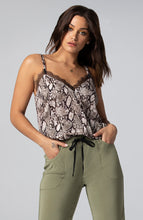 Load image into Gallery viewer, s-by-serena-misha-python-lace-trim-cami-front