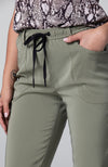Metro Satin Lounge Pant in Olive