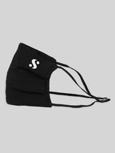 Load image into Gallery viewer, S Logo Black Mask with Straw Insert