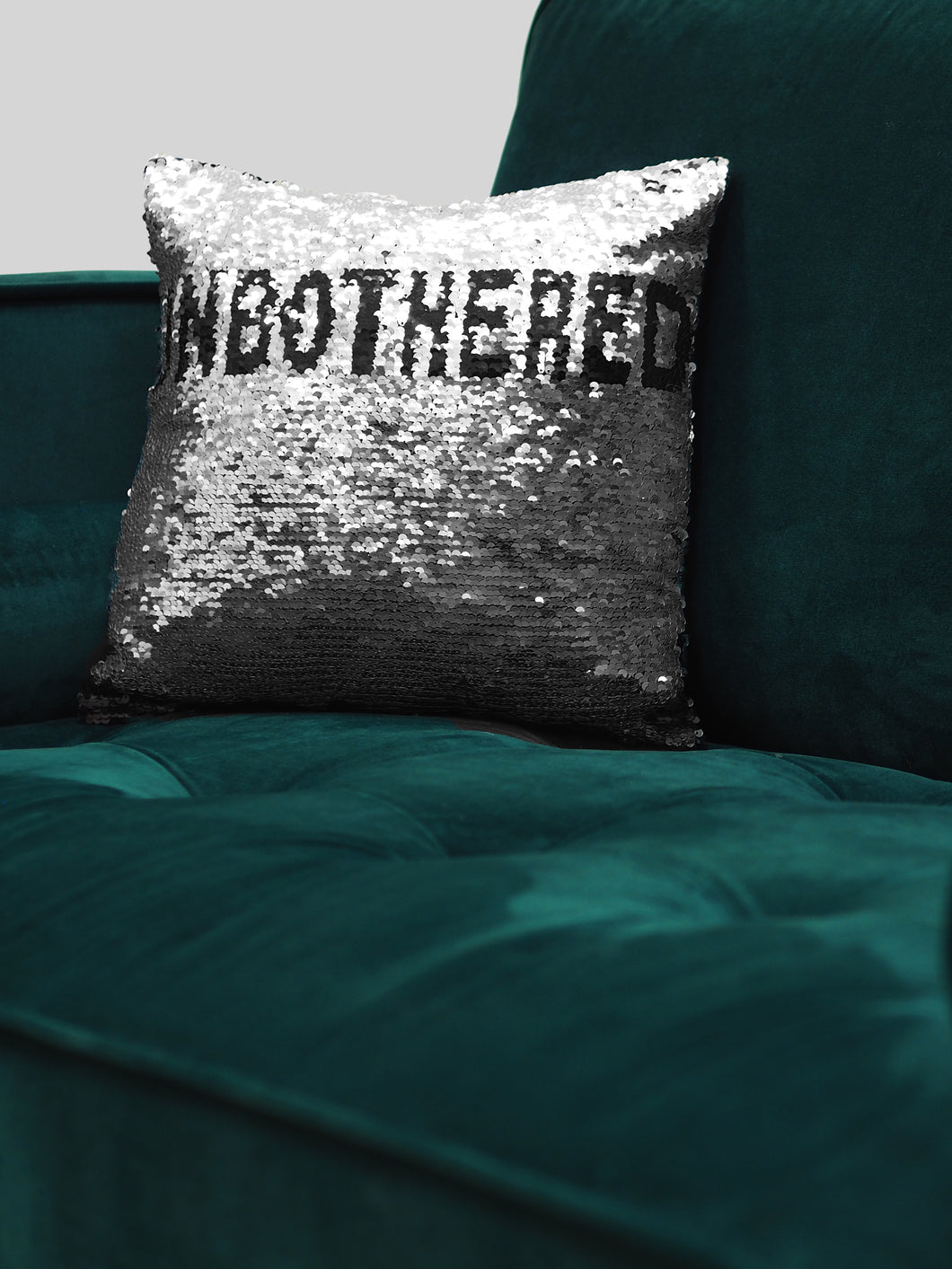UNBOTHERED Sequin Pillowcase