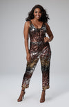 Violetta Jumpsuit in Ombre Sequin