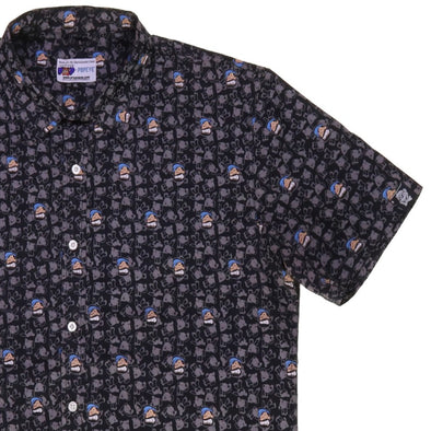 "Bluto ""All Brawn"" Short Sleeve Button Up Shirt"