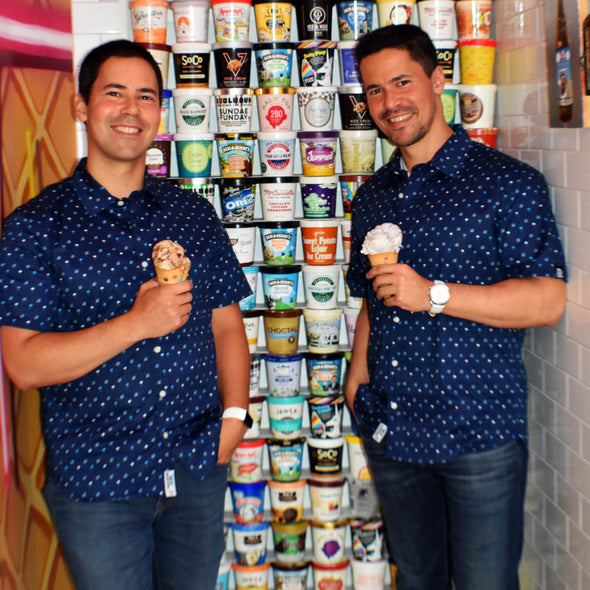 Ice Cream & Cake Short Sleeve Button Up Shirt