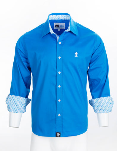 Smurfs Signature Long Sleeve Button Up Shirt