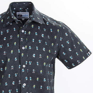 Smurfs Short Sleeve Button Up Shirt