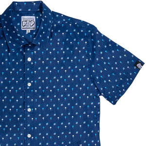 Ice Cream & Cake Short Sleeve Button Down Shirt